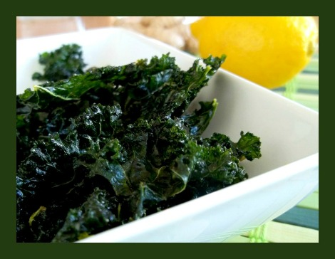 Raw Lemon Maple Ginger Kale Chips