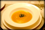 Holiday Soup/ butternut squash and apple