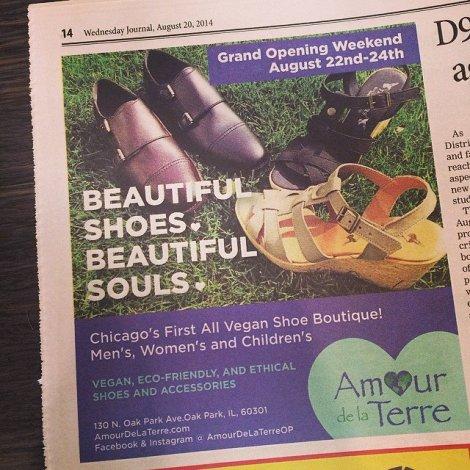 Amour De La Terre in local news paper